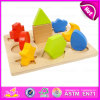 Educational Wooden Geometric Shape Puzzles for Kids, Hot Intellignet Toy Wooden Shape Match Puzzle W14L028