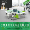 Popular Steel Leg Modern Office Desk for 3 People