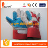 Ddsafety 2017 Reinforced Blue Leather Palm Red Cotton Back Gloves