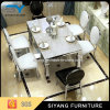 Modern Dining Sets Stainless Steel Table Marble Top Dining Table