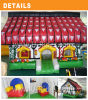 Commercial inflatable bounce house inflatable cottage bouncer for kids rental event
