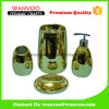 Champagne Gold Shining Luxury Ceramic Bathroom Set for Hotel Recycling