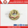 DIN 6923 Yellow Zinc-Plated Hexagon Flange Nuts