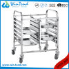 Hot Sale Dual Rows Mobile Food Truck Cart with Wheels for Sale