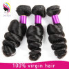 Natural Black Curly Permonent Shining Hair Loose Wave Hair Bundles