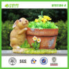 BV SGS Lifelike Rabbit Flower Pot (NF91194-4) Ceramic Imitation