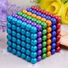 Magnetic Balls Puzzle Magnet Block 216 PCS 5mm Magic Iron Puzzle Cube