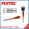 Fixtec Hand Tools CRV 100mm Slotted Insulated Screwdriver