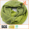 100% Acrylic Pink/Green Zigzag Knitted Neck Scarf