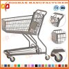 Durable Metal European Style Supermarket Shopping Cart Trolley (Zht136)