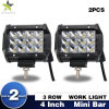 "Newest Mini 4"" IP 68 Spot Light 36W 3 Row off Road LED Light Bar"