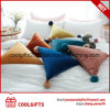 2017 Popular Soft Plush Triangle Pillow Cushion with POM POM