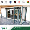 Plastic Hurricane Impact Bi Fold Glass Patio Door