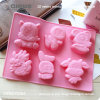 Chinese Zodiac Rubber FDA Certification Silicone Cupcake Molds for Making Chocolate