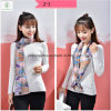 New Design Cravat Silk Stain Fashion Lady Scarf with Printed