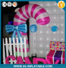 Cusomized Christmas Decoration Lighting Inflatable Candy Cane with Florid LED Light for Sale