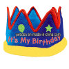Bobo Crown & Tiara /Birthday Fabric Crown (E1055)
