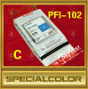 Canon Pfi-102 Ink Cartridge, Ipf500/510/600/610/00/710 Printer, Color C