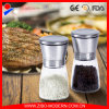 FDA Ceritified Industrial Salt Pepper Grinder Mills, Black Manual Adjustable Salt and Pepper Grinder Mill, Glass Spice Grinder