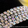 3.5mm Rhinestones Brass Chain Trim Crystal Fancy Rhinestone Cup Chain for Wedding Decor (TCS 3.5mm crystal ab)