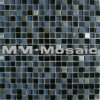 15x15x8mm Crystal Mix Marble & Stainless Steel Mosaic