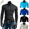 OEM Fashion China Long Sleeve Blank Cotton T-Shirt for Men