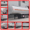 Carbon Steel 3 Axle Petroleum Tank Trailer, 50cbm Fuel Trailer, 40m3 Oil Tanker Trailer for Sale