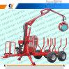 CE 10ton Diesel Log Loading Trailer with Crane