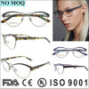 No MOQ Fashion Irregular Stainless Eyewear Frame for Ladies with Double Bridges