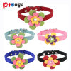 Supply Flower Flannel PU Cat Collar Dog Leather Pet Products