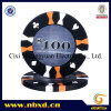 14G 3-Tone Sandglass Stripe Suited Decal Poker Chip (SY-E16)