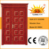 One and Half Leaf Entrance Wooden Door with Crown (SC-W064)