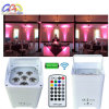 Wireless DMX Uplights DJ Stage Wedding 6pcsx18W RGBWA+UV Aluminium LED Flat PAR Can with Battery Power
