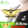 3D Free Design Gold Plating in Stock Jewelry Metal Badge