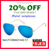 Hot Sell Fashion Brand Metal Sunglasses with Mirror for Man/Woman