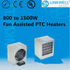 Big Power Extruded Aluminum PTC Fan Heater From 800W to 1500W with CE Certificate for Switch Cabinet