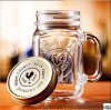 Wholesale Hot Sell Colorful Glass Mason Mug with Handle