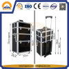 Top Quality Black Aluminium Makeup Trolley Case (HB-3313)