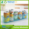 Kitchen Transparent Beverage Fridge & Freezer Bin Storage Organizer