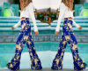 Hot Seller European New Straight Floral Printing Trousers for Women