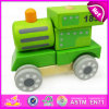Hot Sale 3D DIY Wooden Car Toy for Kids, DIY Blocks Wooden Toys for Pre Educational Children W04A181
