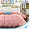 Pink Color 50% White Goose Down and Feather Comforter