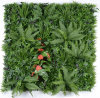 Fire Retardant UV Resistant Fresh PE Artificial Foliage Leaf Plant Privacy Vertical Garden Green ...