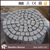 Cheap Natural Circle Round Shaped Light Grey G603 Granite Paving Stone on Mesh