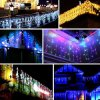 Waterproof LED Fairy Light Curtain Christmas Curtain Lights with Male and Female Connector
