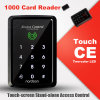 125kHz RFID Standalone Open Close Door Keypad with Touch Screen Keypad