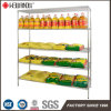 Grain and Oil Food Store Shop Display Chrome Wire Shelf Shelving Rack