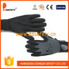 Ddsafety 2017 Stretch Fabric Liner with Black Nitrile Glove Sandy Finished Adjustable Cuff