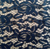 Black Floral African Crochet Fabric Lace