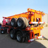 30 Tons Steel Material 2 Axle 20FT Skeleton Container Trailer